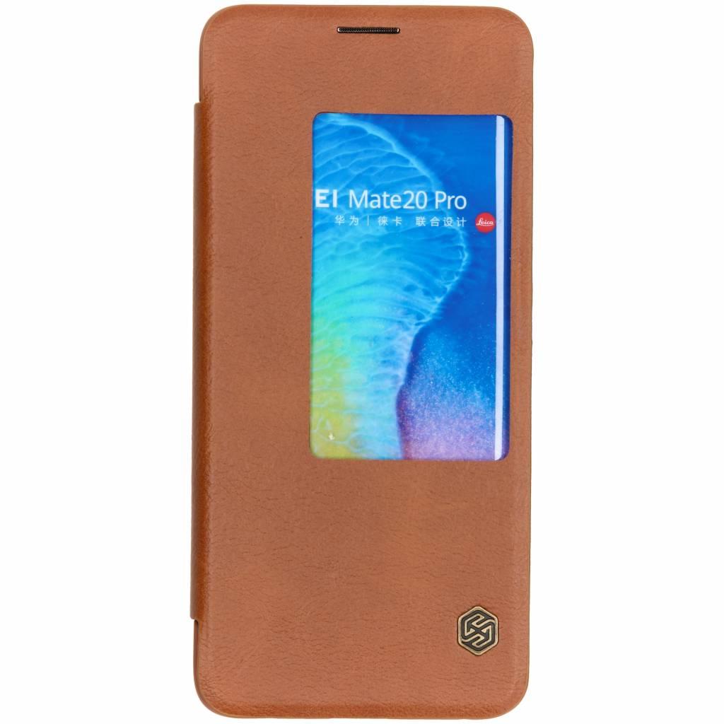 Nillkin Qin Leather Slim Booktype voor Huawei Mate 20 Pro - Bruin