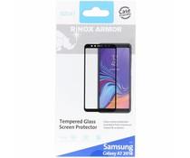 Azuri Zwart Tempered Glass Screen Protector Galaxy A7 (2018)