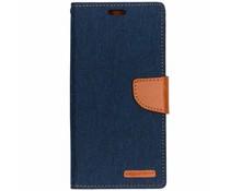 Mercury Goospery Blauw Canvas Diary Case Samsung Galaxy A9 (2018)