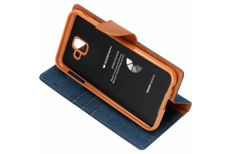 Samsung Galaxy J6 Plus hoesje - Mercury Goospery Canvas Diary