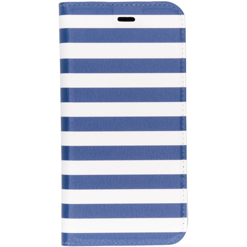 Design Softcase Booktype voor Huawei P20 Lite - Stripes Blue