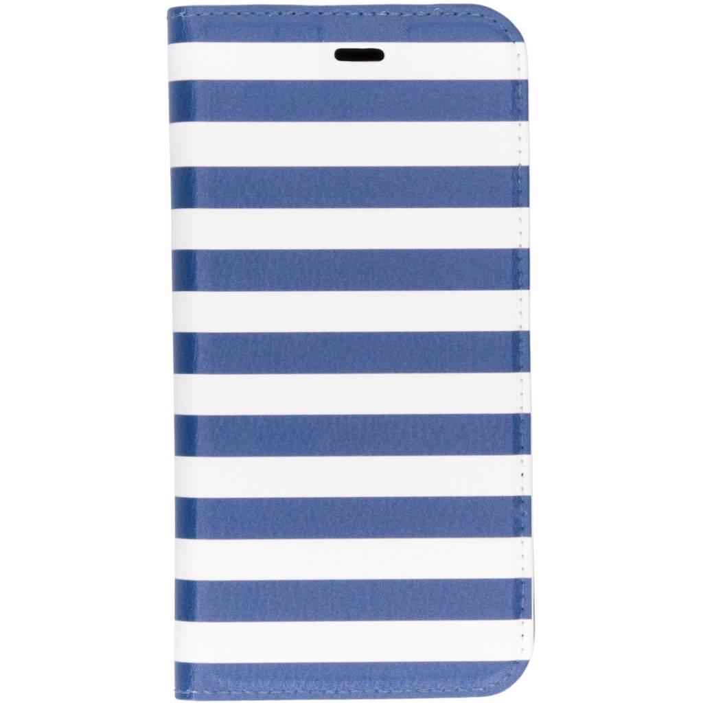 Stripes Blue Design TPU Bookcase voor de Huawei P20 Lite