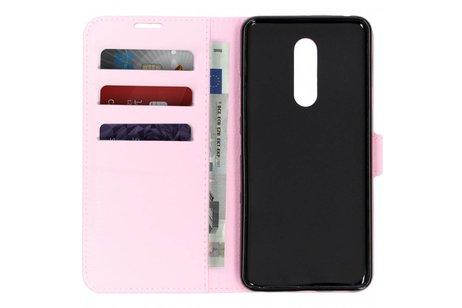 Basic Litchi Booktype voor LG G7 Fit - Roze