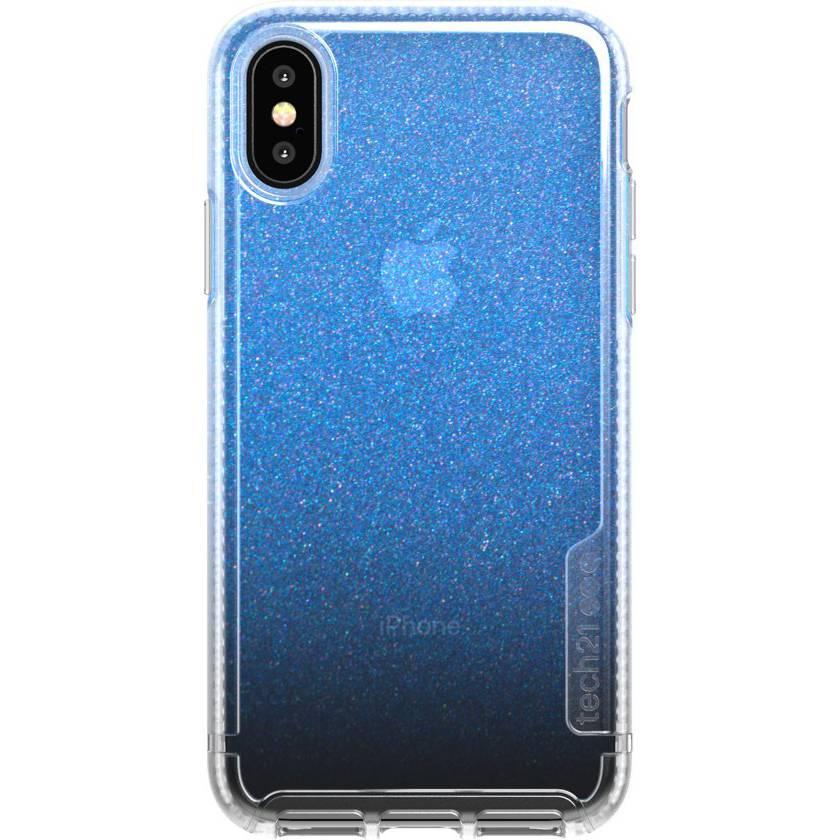 Tech21 Blauwe Pure Shimmer voor de iPhone Xs / X