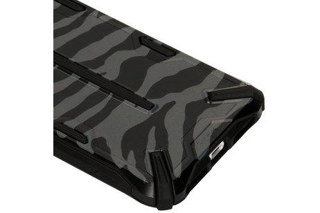 Ringke Dual X Backcover voor iPhone Xs Max - Zebra Black