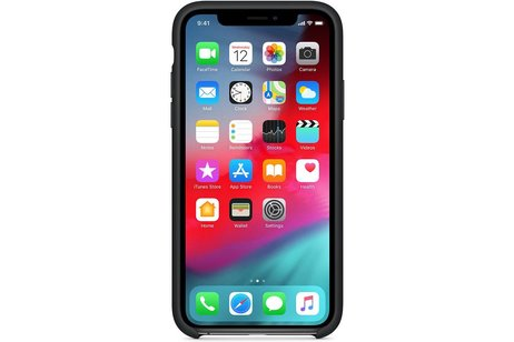 Apple Silicone Backcover voor iPhone X / Xs - Zwart