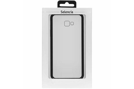 Selencia Magnetisch Backcover voor Samsung Galaxy J4 Plus - Zwart