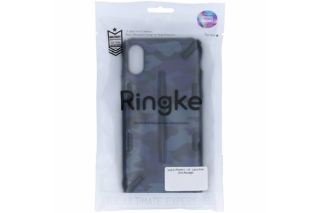 Ringke Dual X Backcover voor iPhone X / Xs - Blauw
