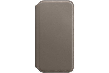 Apple Leather Folio Booktype voor iPhone X / Xs - Beige