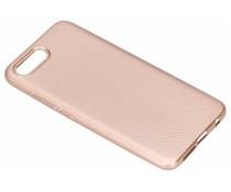 Rosé Goud carbon siliconen hoesje Honor 10