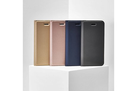 Dux Ducis Slim Softcase Booktype voor Nokia 8.1 - Donkerblauw