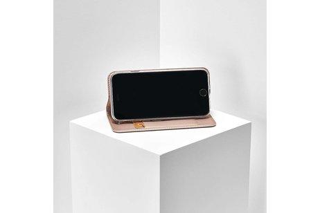 Dux Ducis Slim Softcase Booktype voor Huawei Mate 20 Lite - Rosé goud