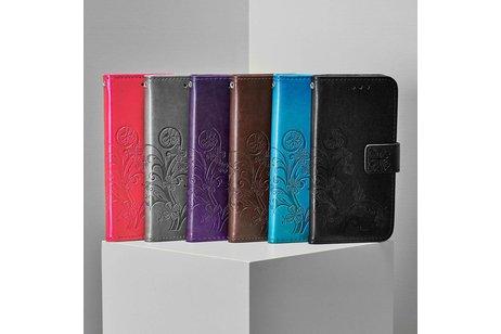 iPhone 6 / 6s hoesje - Klavertje Bloemen Booktype voor