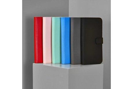 Selencia Luxe Softcase Booktype voor iPhone SE / 5 / 5s - Zwart