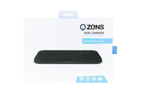 Zens Dual Aluminium Wireless Charger 2 x 10W