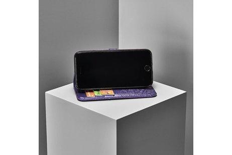 Mandala Booktype voor Nokia 8.1 - Paars