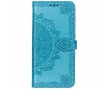 Blauw mandala booktype hoes Nokia 5.1 Plus