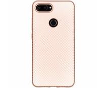 Rosé Goud carbon siliconen hoesje Xiaomi Mi 8 Lite