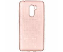 Rosé Goud carbon siliconen hoesje Xiaomi Pocophone F1