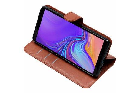 Basic Litchi Booktype voor Samsung Galaxy A7 (2018) - Bruin