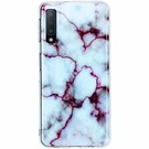 Design Backcover voor Samsung Galaxy A7 (2018) - Marmer Wit / Paars