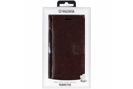 Valenta Leather Booktype voor Huawei P20 - Bruin