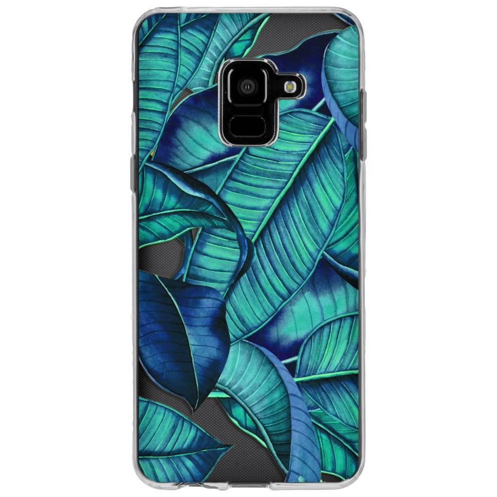 Design Backcover voor Samsung Galaxy A8 (2018) - Blue Botanic
