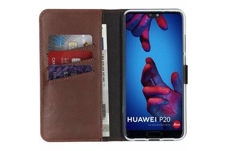 Huawei P20 hoesje - Selencia Echt Lederen Booktype