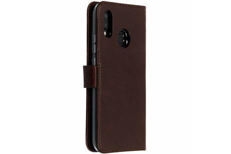 Huawei P20 Lite hoesje - Selencia Echt Lederen Booktype