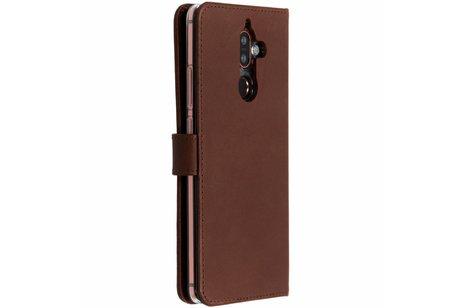 Selencia Echt Lederen Booktype voor Nokia 7 Plus - Bruin