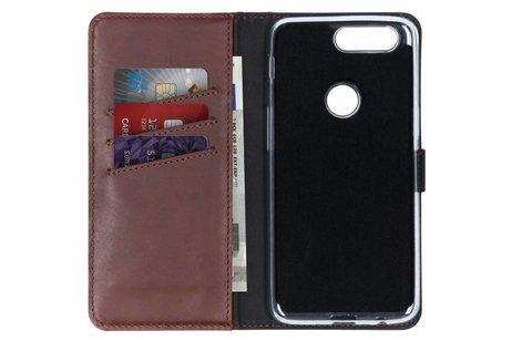Selencia Echt Lederen Booktype voor OnePlus 5T - Bruin