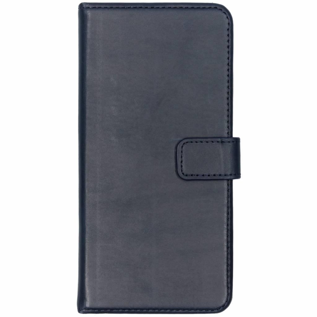 Selencia Echt Lederen Booktype voor OnePlus 5T - Blauw