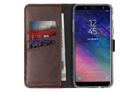 Samsung Galaxy A6 (2018) hoesje - Selencia Echt Lederen Booktype