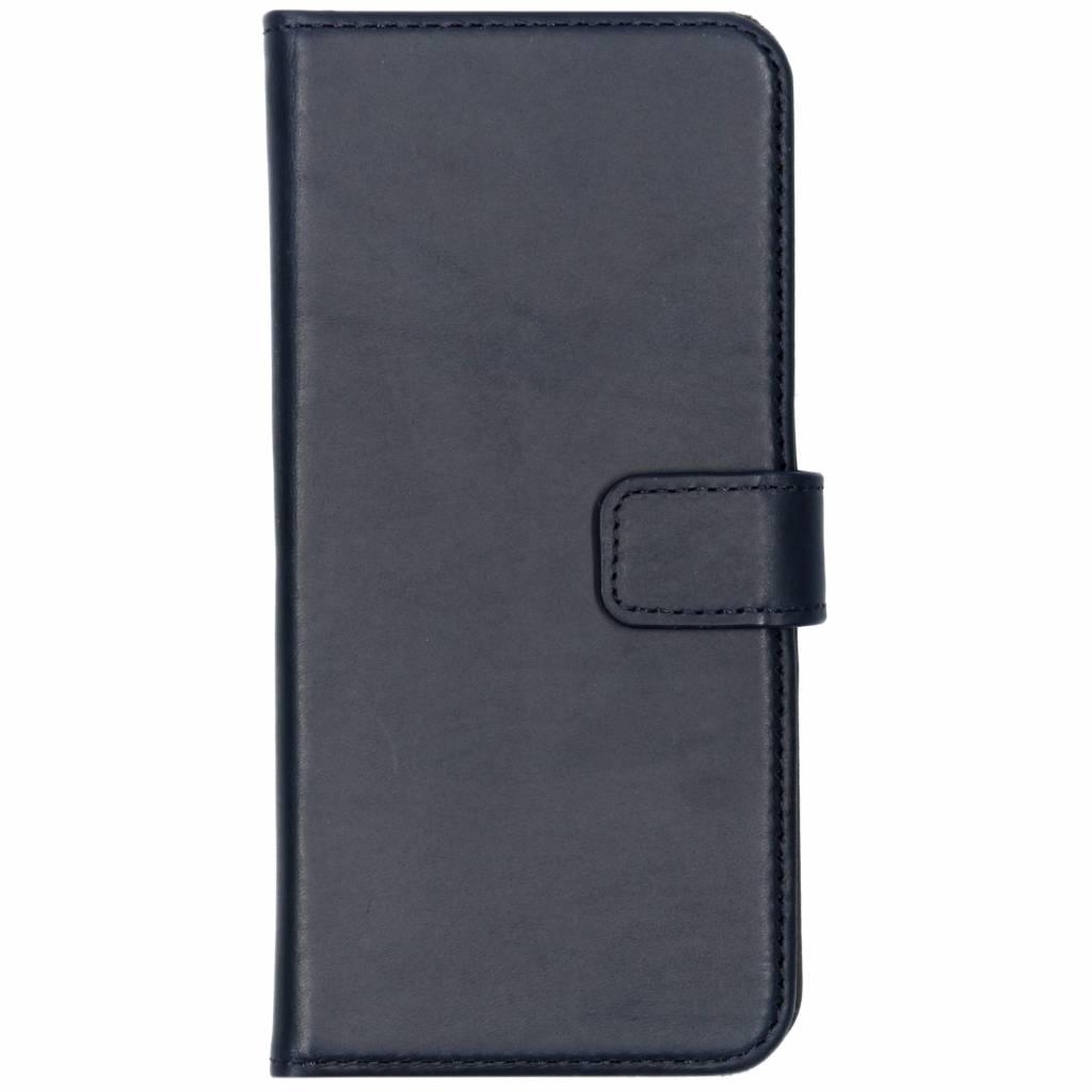 Selencia Echt Lederen Booktype voor Samsung Galaxy S8 - Blauw