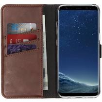 Selencia Echt Lederen Booktype Samsung Galaxy S8