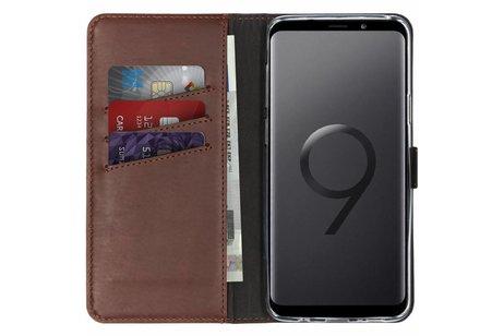 Samsung Galaxy S9 Plus hoesje - Selencia Echt Lederen Booktype