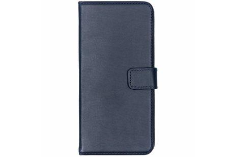 Selencia Echt Lederen Booktype voor Samsung Galaxy S9 Plus - Blauw