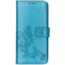 Klavertje Bloemen Booktype Sony Xperia 10 - Turquoise