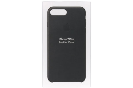 Apple Leather Backcover voor iPhone 8 Plus / 7 Plus - Zwart