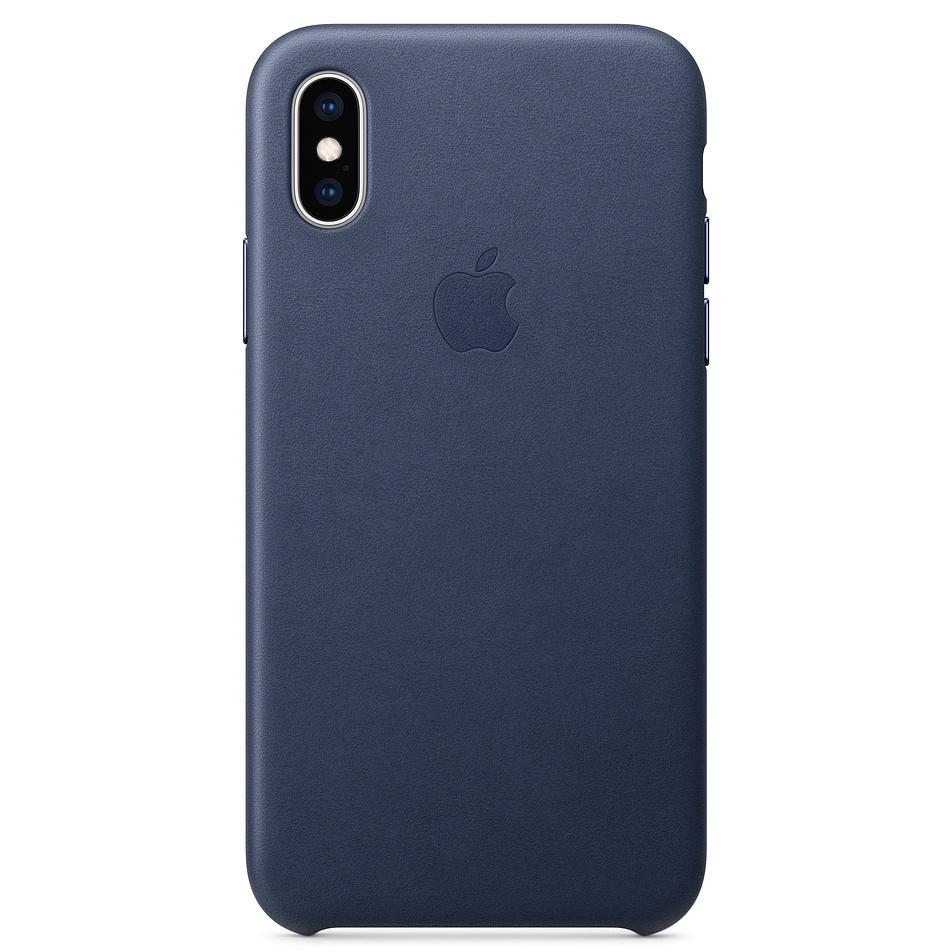 Apple Leather Backcover voor de iPhone Xs / X - Blauw