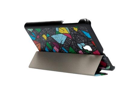 Design Hardcase Bookcase voor de Samsung Galaxy Tab A 8.0 (2017) - Grafische kleuren