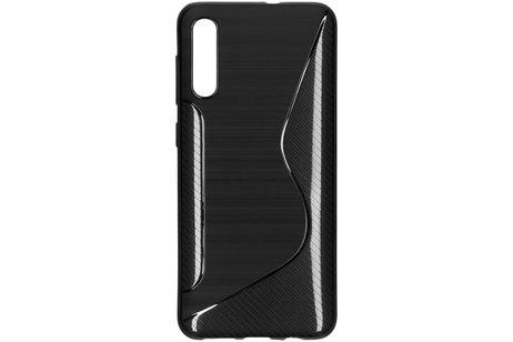 S-line Backcover voor de Samsung Galaxy A50 / A30s - Zwart