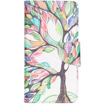 Design Softcase Booktype Samsung Galaxy A40 - Gekleurde boom