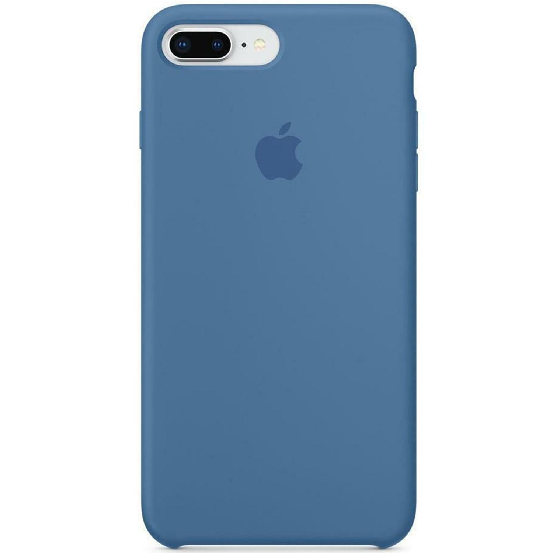 Silicone Backcover iPhone 8 Plus / 7 Plus - Denim Blue