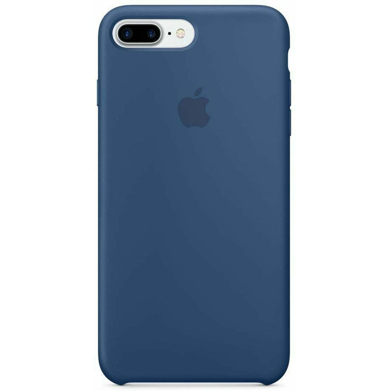 Silicone Backcover iPhone 8 Plus / 7 Plus - Ocean Blue