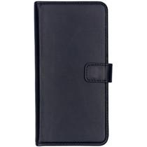 Selencia Echt Lederen Booktype OnePlus 7 Pro - Donkerblauw