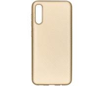 Carbon Softcase Backcover Samsung Galaxy A50 - Goud