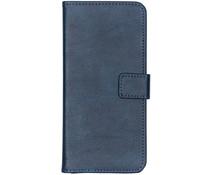 Luxe Lederen Booktype Samsung Galaxy A70 - Donkerblauw