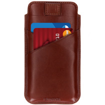 Valenta Pocket Premium Insteekhoes iPhone Xs Max - Bruin
