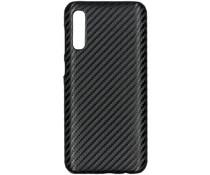 Carbon Hardcase Backcover Samsung Galaxy A50 - Zwart